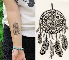 временная татуировка Temporary Tattoo Black Dreamcatcher Feathers Fake Waterproof Sheet 302435333122 купить на Ebaycom