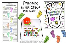 Following In His Footsteps Bible Lesson