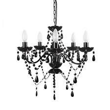 gypsy chandelier pendant ceiling light unique tadpoles 5 bulb chandelier black yx home kitchen