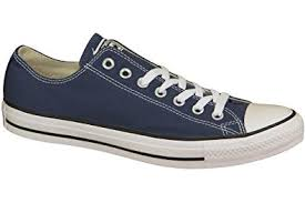 converse navy. converse unisex chuck taylor all star ox sneakers navy m9697