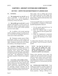 Section 1 Inspection And Maintenance Of Landing Gear