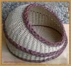 Плетение лежанки для кошек из газетных трубочек