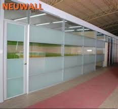 office partition wall systemsingle glassaluminum framed aluminum office partitions