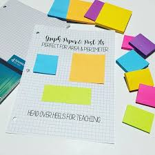 Post Its Are The Perfect Size To Use On Graph Paper To Teach
