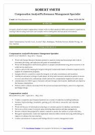 Compensation Analyst Resume Samples Qwikresume