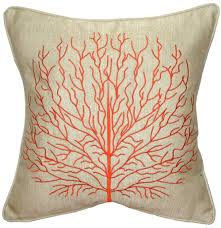 orange accent pillows. Fire Coral Orange 17x17 Throw Pillow Accent Pillows Decor