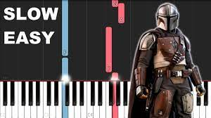You can get sheet music, chords and vocals to midi format. The Mandalorian Theme Slow Easy Piano Tutorial Youtube