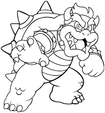 Super Mario Bowser Coloring Pages To Print Spikedsweetteacom