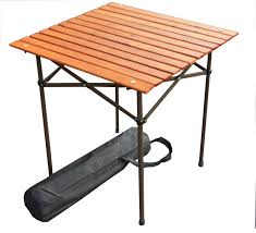 wood portable table in a bag