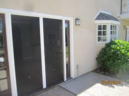 exterior view french doors of retractable screen doors sherman oaks