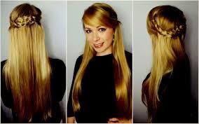 Gallery Of Haarfrisur Langes Haar Einfache Schnelle Frisuren I Lange