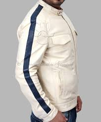 need for sd off white leather jacket