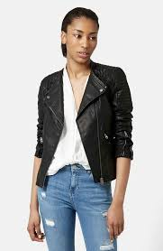 Topshop 'Charlie' Quilted Faux Leather Jacket | Nordstrom & Main Image - Topshop 'Charlie' Quilted Faux Leather Jacket. ' Adamdwight.com