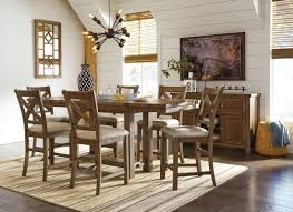 moriville gray extendable counter height dining room set from ashley coleman furniture