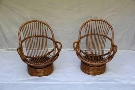bamboo rattan chairs. Ambelish 18 Swivel Rattan Chair Beautiful Pair Of Bamboo Lounge Chairs Sun Products, Circa 1965