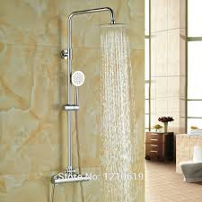 thermostatic brand bathroom: newly brass bathroom quot thermostatic shower faucet set w hand shower chrome plate shower