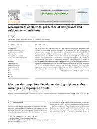 (PDF) <b>Measurement</b> of electrical properties of <b>refrigerants</b> and ...