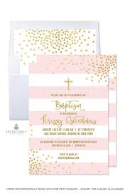 Printable Baptism Invitations Girl Baptism Invitation Girl Christening Invitation Pink And