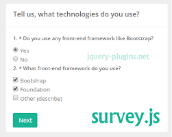 bootstrap survey form survey js javascript survey engine json bootstrap javascript