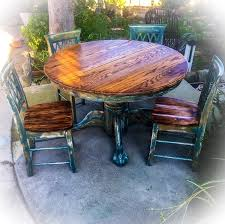 Kitchen Table Chair Set Sold Burnt Oak Table Chair Set Large Distressed