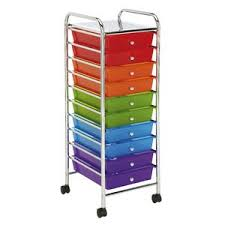 office trolley cart. J.Burrows 10 Drawer Chrome Trolley Multi Colour Brights Office Cart O