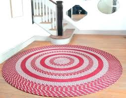 large braided rug round rugs the oval area red braided rug piper classics park designs large