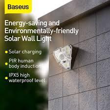 <b>Baseus LED Solar Light</b> Outdoor Solar Lamp Powered Sunlight PIR ...