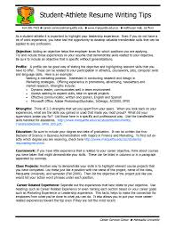 Sample High School Athletic Resume For College Best Athletic Resume