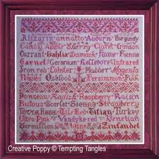 Desiderata Cross Stitch Chart Scarlet Letters Cross Stitch Pattern By Tempting Tangles