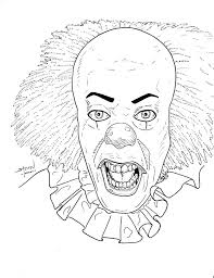 full coloring pages. Contemporary Coloring Scary Coloring Pages Full Size Horror Fun Time Clown Faces D To Full Coloring Pages S