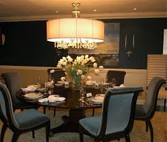 Green Formal Dining Room Chrome Metal Tapering Legs Black Printed Chairs  Brown Finishing Teak Solids Wood