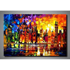 handpainted modern oil painting wall art canvas home decoration heavy textured unique gift high quality