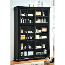 wood bookcase with glass doors wooden bookcase with glass doors bookshelves with glass doors billy bookcase