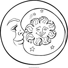 Coloriage Lune Les Beaux Dessins De Nature Imprimer Et Colorier