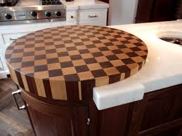 round end grain maple and walnut butcher block wood countertop