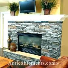 stone tile fireplace surround stacked veneer putting natural design