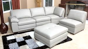 portman leather piece modular sectional  video gallery
