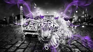 lamborghini miura fantasy white tiger car