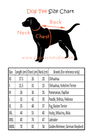 Boston Terrier Size Chart Size Charts Pupcorn Studio
