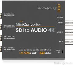 Blackmagic Design Audio To Sdi Blackmagic Mini Converter Sdi To Audio 4k