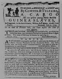 notice of chattel slavery in the americas