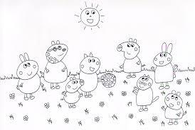 Cartoni Animati Da Colorare 5 Disegni Da Colorare Peppa Pig