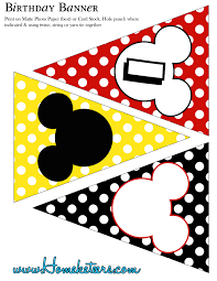 Mickey Mouse Party Printables Free Big Mickey Mouse Party Printable Kit