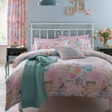 bedding catherine lansfield vintage collage birdcageking duvet pink and black duvet covers