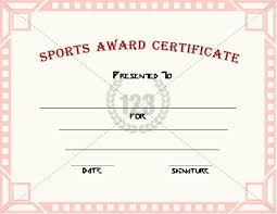 Certificate Of Recognition Template Free Download Good Sports Award Certificate Templates For Free Download