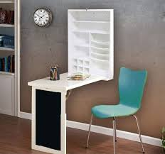Fold Down Desk Table / Wall Cabinet with Chalkboard, White or Espresso -  Utopia Alley