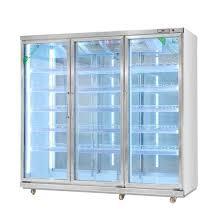 china vertical display front glass door