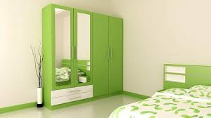 #15 Light Green Bedroom Wardrobe Cabinet