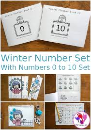 Winter Number 0 to 10 Themed Set | 3 Dinosaurs