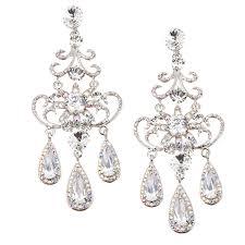 mahika ab chandelier earrings bridal jewellery crystal